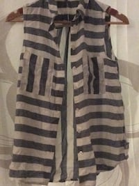 Stripy sleeveless shirt Tipton, DY4 8RD