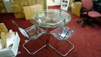 Ikea glass table and matching chairs set Chantilly, 20151