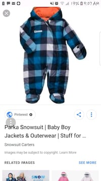 blue and black plaid print footie pajama screenshot Martinsburg, 25404