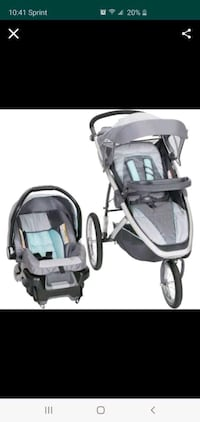 Brand new stroller and car seat