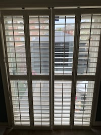 Wood California shutters for patio doors Brampton, L6P