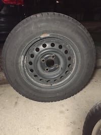 Set of winter tires on steel rims 185/70R14