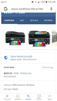 Nice Epson work force 600 All in one  printer  Jessup, 20794