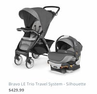 """Chicco Bravo LE Travel System """"Like NEW"""" Columbia"""