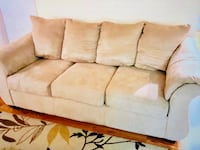 white fabric 3-seat sofa Germantown