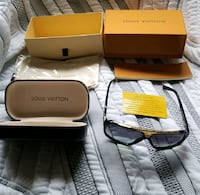 black Louis Vuitton sunglasses with case and box