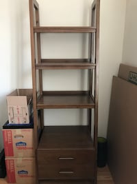 Midcentury Modern bookcase with drawers