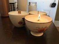 Customizable vintage teacup candles with wooden wicks Moncton, E1C 6N5