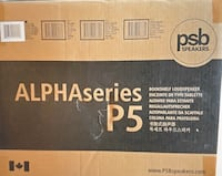 PSB Alpha P5 Bookshelf Speaker - Black Ash Toronto, M5V 0B8