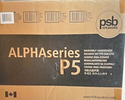PSB Alpha P5 Bookshelf Speaker - Black Ash