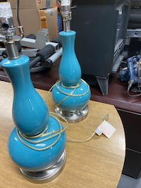 Vintage Teal Table Lamps