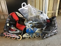 unpaired black inline skate 5985 km