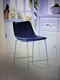 2!!!!Black Faux Leather Counter Height Bar Stools  Chalmette