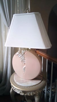 white and pink table lamp Burke, 22015