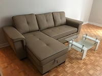 Brand new faux leather pull out sectional sofa on sale  多伦多, M1V 1E9