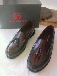 Size 10 maroon Rockport leather  dress shoes