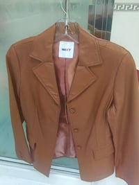brown leather button-up jacket Burnaby, V5E 3P8