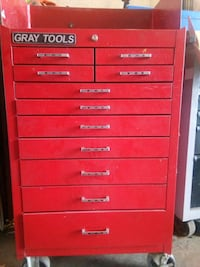 red Gray-on tool chest Toronto, M4Y