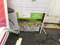 Glass patio table set with 4 colorful chairs all brand new Chattanooga, 37421