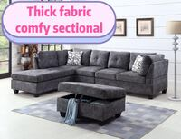 Brand new large thick fabric sectional sofa with ottoman on sale  多伦多, M1W
