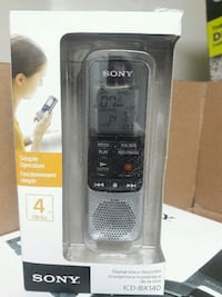 Sony icd-bx140. Digital voice recorder 4gb Mississauga, L5A 3X2
