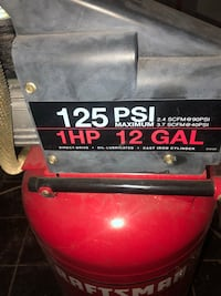 Red and black craftsman air compressor Elkins Park, 19027