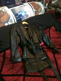 black leather zip-up jacket South Gate, 90280