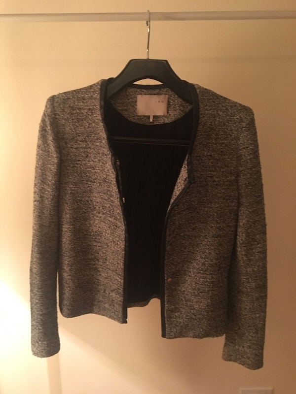 IRO Paris Blazer with leather detailing