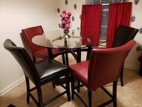 rectangular glass-top table with chairs Stafford, 22556