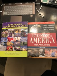 AP Econ and AP Gov books Grand Rapids, 49504