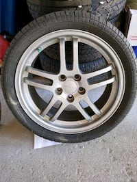Pirelli 265 / 35 ZR 18 tires with MazdaSpeed Rays Forged rims  Whitby, L1N