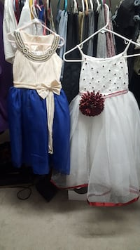 two white scoop-neck dresses