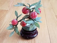 Vintage Natural Stone Jade and Grape Peach Bonsai Calgary