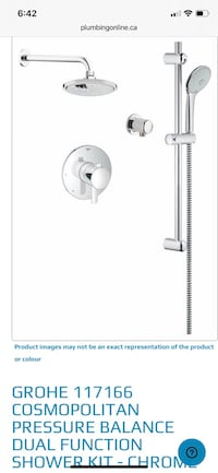 Grohe cosmopolitan shower kit