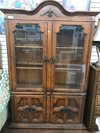 China cabinet with matching island table