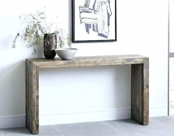 Restoration Hardware Reclaimed Wood Console Table
