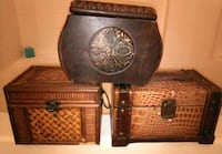 LOT of THREE Vintage Wooden Boxes Rosedale, 21237