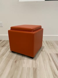 2 Crate and Barrel ottomans Great Condition!