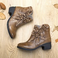 Socofy handmade genuine leather ankle boots, size 9, worn once Chesapeake, 23322