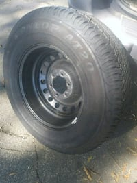 New tire with rim dunlop at20 p265/70r17 101 mi