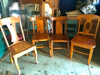 Four vintage solid wood chairs! $20 EACH *****SOME SOLD