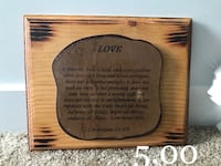 brown Love wooden quote board Herriman, 84096