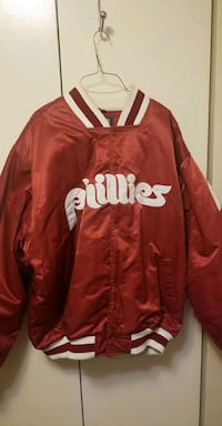 red and white San Francisco 49ers letterman jacket