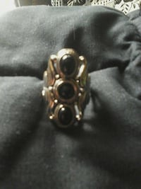 silver and black onyx size 8 ring Virginia Beach, 23451