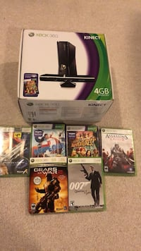 Black xbox 360 Kinect with two controllers and 6 games  Crofton, 21114
