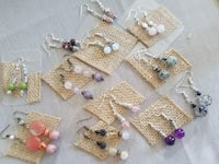 Small earrings , natural stones ( new) MONTREAL