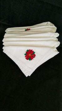 12 embroidered linen holiday napkins Henderson, 89014
