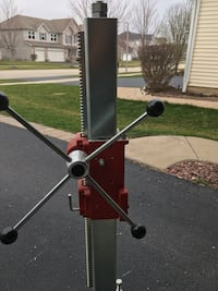 Gray and red metal drill press Oswego, 60543