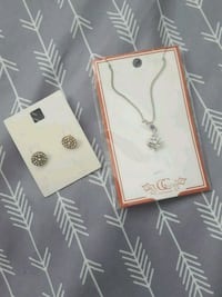 silver-colored necklace and earring set Edmonton, T6V