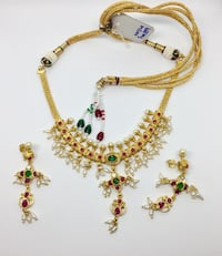 Handmade Pearl Gold-Plated Necklace PAOLI